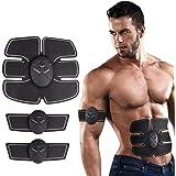 DY_Jin Elektrische stimulator voor buikspieren, met riem, buikspieren, EMS-abs-trainer, fitness voor het lichaam van vrouwen