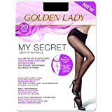 GOLDEN LADY Mysecret 20 Collant, 20 DEN, Nero (Nero 099A), Medium (Taglia Produttore:3–M) Donna