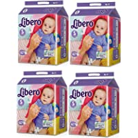 Libero Small Size Open Diaper (White) 60 Count Pack of 4