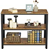 Yaheetech 3 Tiers Console Sofa Side Table Bookshelf Entryway Accent Tables Storage Shelf Living Room Entry Hall Table Furnitu