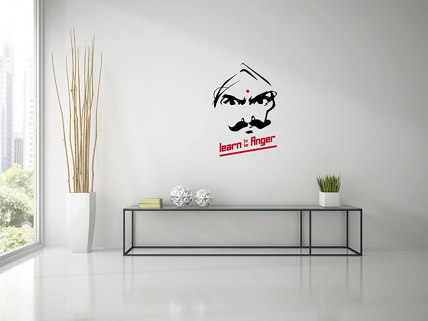 Buy Bharathiyar Learn To Be Angry Wall Decal Medium Black Online At Low  Prices In India   Amazon.in Part 61