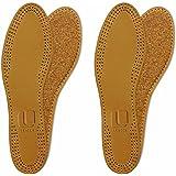 Lenzen 2 Pares de Plantillas de Cuero y Corcho Natural I Inserciones para Zapatos I Hombre y Mujer