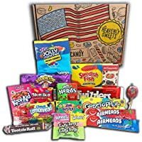 American Sweets Vegetarian Snack and Candy Gift Box Set - Gift Hamper for Children, Adults – Birthday, Christmas, - 20…