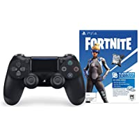 Sony Fortnite Bundle -DualShock 4 Black Wireless Controller With Digital content - Epic Neo Versa Outfit, Epic Neo Phrenzy Back Bling and 500 V-Bucks