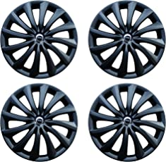 Hotwheelz Sporty 14-inch Wheel Cover with Rings (Set of 4, Black)