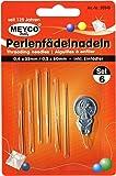 Perlenfädelnadeln, 6er-Set - Perlen Fädelnadeln 0,4x55mm und 0,5x60mm inkl Einfädler