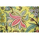 Mudit Crafts Cotton Printed 2.5 Meter Jaipuri Cream Fabric Dress Material for Women