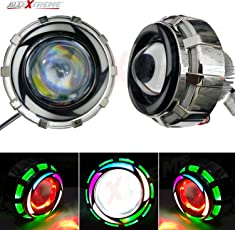 Allextreme Projector Lamp Led Headlight For Royal Enfield Motorcycle Projector Lamp With High/Low Beam And Flasher Function