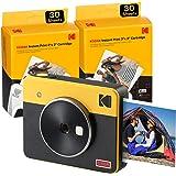 Kodak C300R Mini Shot 3, Camara Fotos Instantaneas con Impresora + 68 Fotos, Formato Cuadrado 76X76 Mm, Conexión Inalámbrica