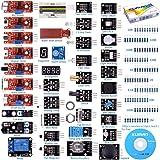 kuman para Arduino Kit, para Arduino-R3 Raspberry Pi 3 Mega 2560 R3, 37 en 1 Módulo Sensor Proyectos para Arduino Starter Kit