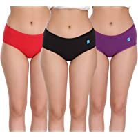Eve's Beauty Womens Hipster Lycra Multicolor Panties-Pack of 3