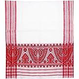 Pathak Exports Unisex Cotton Assamese Gamocha (Red and White, 57x23 Inch)