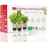 Cultivea Kit completo de hierbas - Cultiva tus propias hierbas aromáticas - 100% ecológicas: semillas orgánicas, bio seeds -