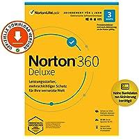 Norton 360 Deluxe 2021   3 Geräte   Antivirus   Unlimited Secure VPN & Passwort-Manager   1 Jahr   PC, Mac oder…