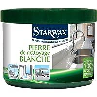STARWAX VERT Pierre Blanche de Nettoyage - 375g - 100% d'Origine Naturelle en Pot - Nettoie, Dégraisse et Polit