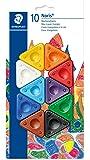 Staedtler - 2230 BK10 - Blister de 10 Craies A La Cire Triangulaire avec Zone de Préhension - Assorties - Lot de 1