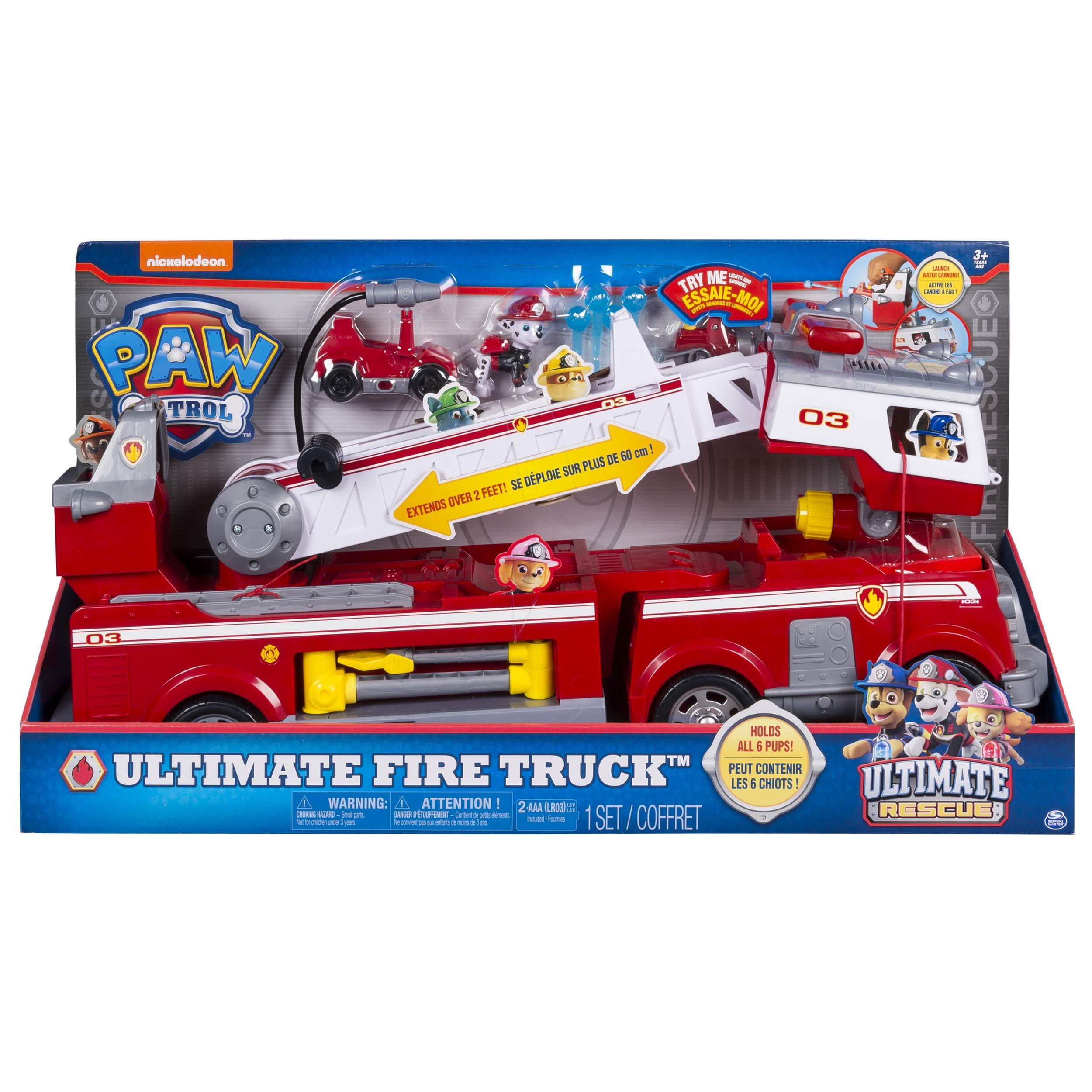 Paw Patrol Ultimate Rescue Fire Truck vehículo de juguete – Versión IMPORTADA