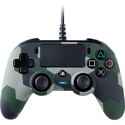 Nacon Compact Controller Camogreen con Cavo - Licenza Ufficiale Sony PlayStation - PlayStation 4