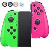 Timoom Controller Nintendo Switch, joycon switch Joystick Gamepad Bluetooth Sostituzione per JoyCon, Doppio shock Giroscopio