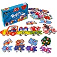 LIKEE Number Floor Puzzle Math Flash Cards Addition Games Animal Train Jigsaw Puzzle Sorting and Matching Blocks Preschool Ed