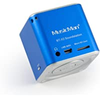 MusicMan mini Wireless Soundstation BT-X2 (MP3 Player, Bluetooth) blau
