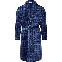 Adore Home Mens Flannel Fleece Bathrobe Warm Soft Dressing Gown Bath Robe Shawl Collar
