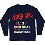 lepni.me Camiseta para Niños Bloqueo de Cuarentena 2021 Regalo de Fiesta de Cumpleaños Personalizado