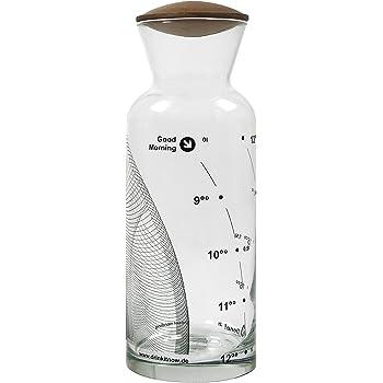 drinkitnow wasserkaraffe 1 liter glas welle schwarz. Black Bedroom Furniture Sets. Home Design Ideas
