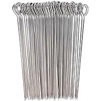 UCEC 50x Kebab Skewers, Skewers for Grilling, Metal Kebab Sticks, Stainless Steel, 15 cm, for Kebab, Barbecue