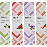 Amazon Brand - Solimo Incense Sticks, Multi fragrance - 70 sticks/pack (Pack of 4)