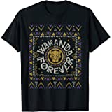 Marvel Black Panther Wakanda Forever Holiday Sweater T-Shirt