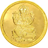Joyalukkas 22k (916) 4 gm BIS Hallmarked Yellow Gold Precious Coin with Lord Ganesh Design