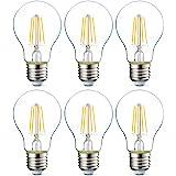 Amazon Basics Ampoule LED E27 A60 avec culot à vis, 4.3W (équivalent ampoule incandescente 40W), transparent avec filament -