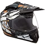 Vega Off Road D/V Fighter Black Silver Helmet, M