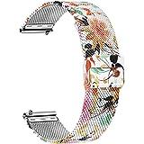TRUMiRR Vervanging voor Garmin Vivoactive 3/3 Music armband, 20 mm mesh geweven roestvrij stalen horlogeband metalen armband