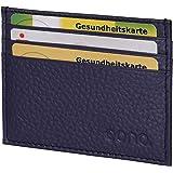 Eono by Amazon, porta carte di credito in pelle da uomo e donna, con scomparto per banconote, design piatto e funzione di pro