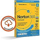 Norton 360 Deluxe 2021 | 3 Appareils | Antivirus, Sécurité Internet, Gestion Mots de Passe, Protection Webcam, Contrôle…