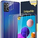 UniqueMe [2 Pack] Protector de Pantalla para Samsung Galaxy A21s + [2 Pack] Protector de Lente de cámara, Vidrio Templado [9H