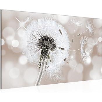 Bilder blumen pusteblume wandbild 100 x 40 cm for Wandbilder wohnung