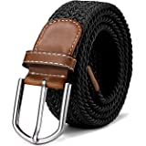 Braided stretch belt elastic for women and men length 39 to 51 inch - 100 cm to 130 cm