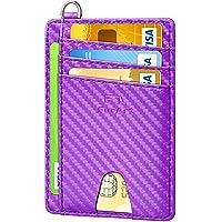 FurArt Porta Carte di Credito, Protezione RFID Portafoglio Sottile Minimalista,Slim Porta Carte Credito
