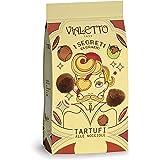 VIALETTO i Segreti di Orazio   Tartufi al Cioccolato Fondente e Nocciole   Confezione da 120 grammi