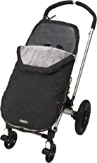 JJ Cole JU-SBBM/U-SBBM - Bundleme Urban Fußsack für den Kinderwagen/Autositz, wind- und wetterfest - schwarz, stealth - 1 bis 3 Jahre