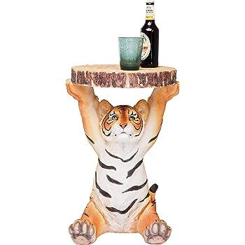 Kare Design Beistelltisch Animal Tiger ø35cm Kleiner Runder