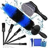 Kohree 9 Stks Wielband Borstel Set voor Reiniging Wielen, Detail Auto Wassen Wiel Cleaner Velg Borstels Kit voor Wassen Bande