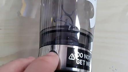 MiiXR PRO Botella Batidora de Proteínas by PROMiXX | Mezcladora de Vórtice Recargable con Almacenamiento de Suplementos, Cable USB y Vaso de Fácil de ...