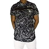 PU Cuir Homme Hip Hop Tees Rap Ajustée R Time Is Money Zip-STAR CLUB T shirts