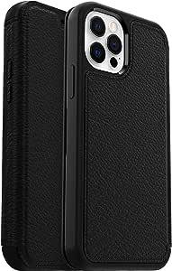 Otterbox Strada Elegante Sturzsichere Folio Schutzhülle Aus Echtem Leder Für Apple Iphone 12 12 Pro Schwarz