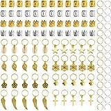 340 unidades de horquillas para el pelo, de aluminio, para trenzas, accesorios (oro y plata)
