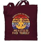 Shirtracer - Yoga und Wellness Geschenk - I'm mostly Peace, Love & Light and a little go f yourself - Stoffbeutel aus Baumwol